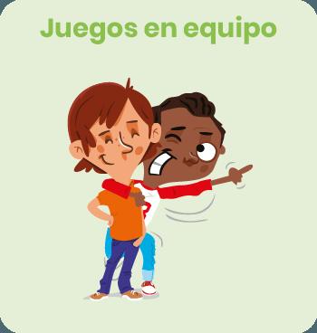 Luca y Max personajes de nuestro programa de educacion emocional be happy juego en equipo